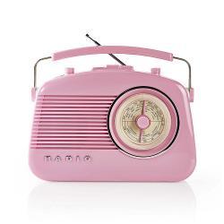 Nedis RDFM5000PI FM-radio | 4,5 W | Draaggreep | | Roze