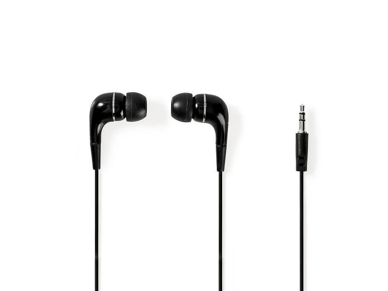 Nedis HPWD1001BK Wired Headphones | 1.2m Round Cable | In-Ear | Black