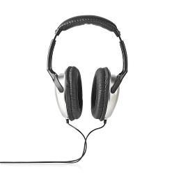 Nedis HPWD1201BK Over-ear Koptelefoon | bedraad 6,00 m | zilver/zwart