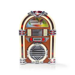 Nedis RDJB3000BN Tafelradiojukebox | FM/AM-radio CD | 3 W | bruin