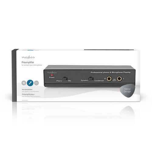 Nedis AAMP2420BK Professionele Voorversterker   Microfoon   Phono