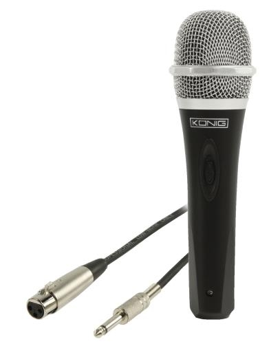 König KN-MIC50 Uni-directionele dynamische microfoon metaal zwart