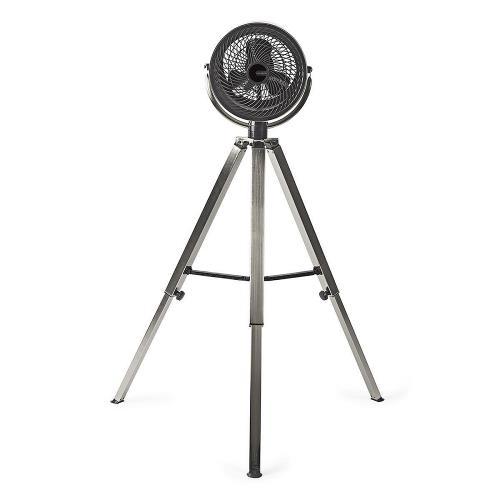 Nedis  Ventilator op Driepoot | Diameter 25 cm | 3 snelheden | Geborsteld metaal