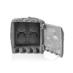 Nedis EXGS41 Verlengsnoer | 4x Stopcontact | 2,00 m Grijs | 4x Schuko