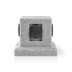 Nedis EXGS50 Verlengsnoer | 4x Stopcontact | 2,00 m Grijs | 4x Schuko