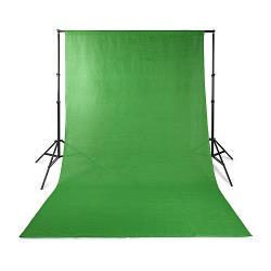 Nedis BDRP33GN Achtergronddoek voor Fotostudio | 2,95 x 2,95 m | Groen