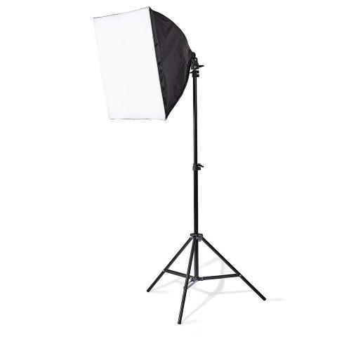 Nedis SLKT10BK Verlichtingsset Fotostudio | 2x 70 W | 5500 K | 180 cm hoogte | Opvouwbaar