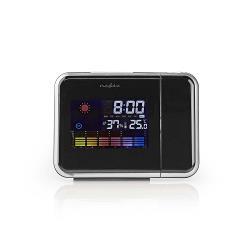 Nedis WEST103BK Projectieklok | Alarm | Hygrometer | Weerbericht