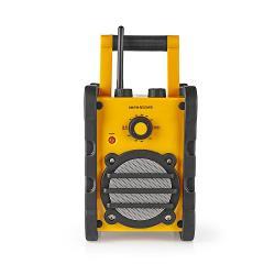 Nedis RDFM3000YW Draagbare FM-radio | FM/AM-radio | 3 W | geel/zwart