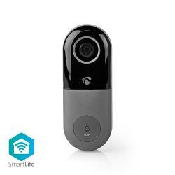 Nedis WIFICDP10GY Wi-Fi Smart Videodeurbel | Bediening via App | microSD-Sleuf | HD 720p