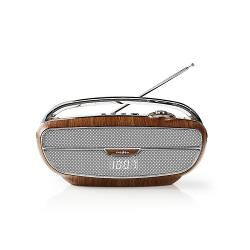 Nedis RDFM5310BN FM-radio | 60 W | Bluetooth® | Bruin / zilver