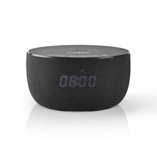 Nedis SPBT4000BK Bluetooth®-Speaker met Draadloos Laden   30 W   Tot 6 Uur Speeltijd   Klok   Zwart