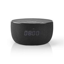 Nedis SPBT4000BK Bluetooth®-Speaker met Draadloos Laden | 30 W | Tot 6 Uur Speeltijd | Klok | Zwart