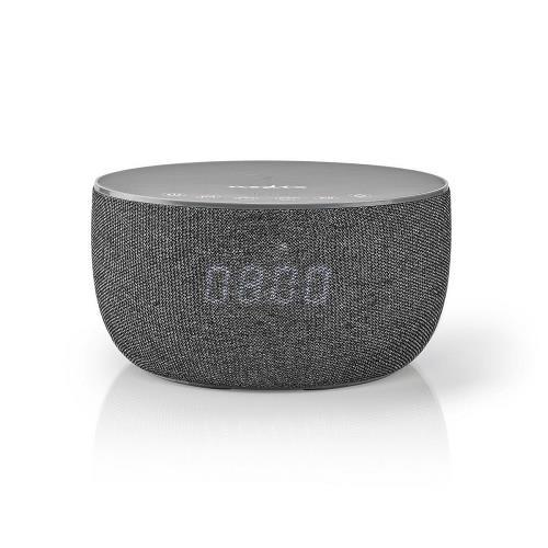 Nedis SPBT4000GY Bluetooth®-Speaker met Draadloos Laden | 30 W | Tot 6 Uur Speeltijd | Klok | Grijs