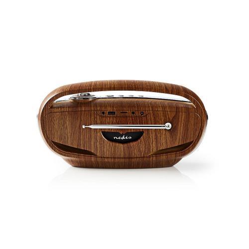 Nedis RDDB5310BN Digitale DAB+ radio | 60 W | FM | Bluetooth® | Bruin / zilver