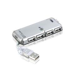 Aten UH275Z-AT-G 4-Port Hub USB 2.0 Computer Silver