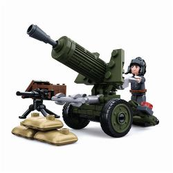 Sluban M38-B0678A Building Blocks WWII Serie Allied Artillery Gun