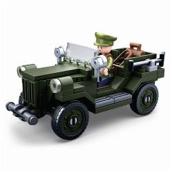 Sluban M38-B0682 Building Blocks WWII Serie GAZ-67 Allied Light Truck