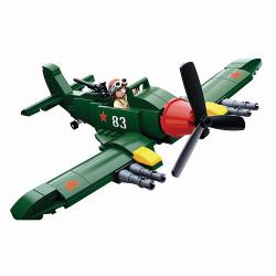 Sluban M38-B0683 Building Blocks WWII Serie Ilyushin Il-2 Allied Fighter Plane