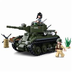 Sluban M38-B0686 Building Blocks WWII Serie BT-7 Allied Cavalry Tank