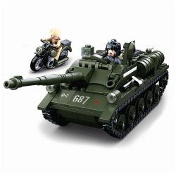 Sluban M38-B0687 Building Blocks WWII Serie SU-85 Allied Tank Destroyer