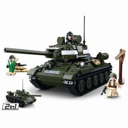 Sluban M38-B0689 Building Blocks WWII Serie T-3485 Allied Tank 2 in 1