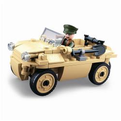 Sluban M38-B0690 Building Blocks WWII Serie VW 82 German Amphibious Car