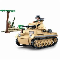 Sluban M38-B0691 Building Blocks WWII Serie Panzer II German Tank