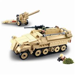Sluban M38-B0695 Building Blocks WWII Serie SD.KFZ.251 German Half Track