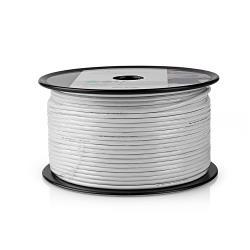 Nedis CSBR4005WT100 Coaxkabel | Mini Coax | 10,0 m | Minirol | Wit
