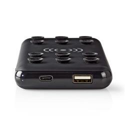 Nedis WPBKSC10000BK Powerbank met Draadloze Oplader | 10000 mAh | 2,4 A | USB-uitgang | Zwart