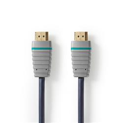 BVL2101 Ultra High-Speed HDMI-Kabel met Ethernet HDMI-Connector - HDMI-Connector 1,0 m Blauw