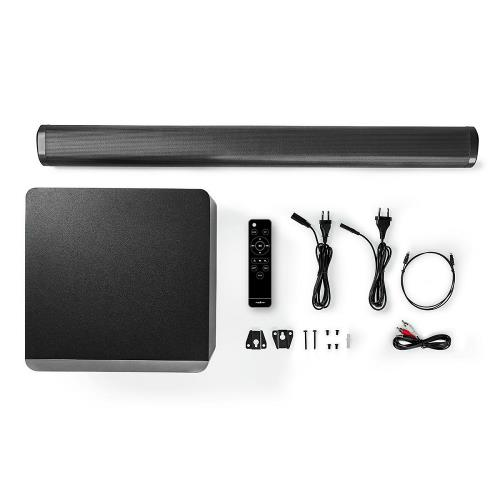 Nedis SPSB420BK Soundbar | 390 W | 2.1 | Bluetooth® | Subwoofer | Afstandsbediening | Muurbeugel
