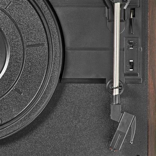 Nedis TURN220BN Draaitafel | 18 W | PC-Conversie | Automatisch Uitschakelen | Stofhoes | Bruin