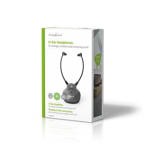 Nedis HPRF020AT Draadloze Koptelefoon | Radiofrequentie (RF) | In-Ear | Laadstation | Antraciet