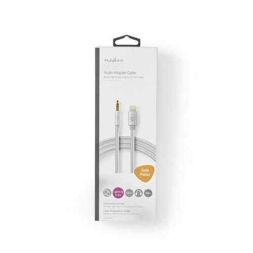 Nedis CCTB39940AL10 Apple Lightning Koptelefoon Adapterkabel | Apple Lightning 8-Pins Male - 3,5 mm Male | 1,00 m | A...