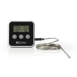 Nedis KATH105BK Vleesthermometer | 0 - 250 °C | Digitaal Display | Timer