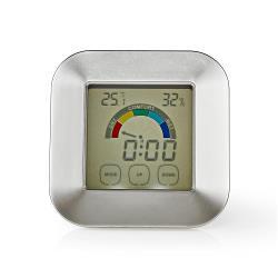 Nedis KATR105SI Hygrometer | Temperatuurmeter | Tijd | Touch-Screen