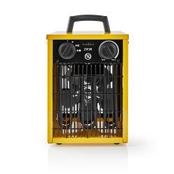 Nedis HTIF10FYW Industrial Fan Heater | Thermostat | 3 Settings | 2000 W | Yellow
