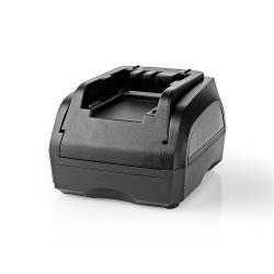 Nedis PTCM003FBK Powertool-Lader | Batterij-Uitgang 7,2 - 18 V DC | Zwart & Decker, Firestorm, Dewalt