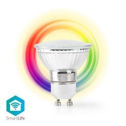 Nedis WIFILC10CRGU10 Wi-Fi Smart LED-Lamp | Full-Colour en Warm Wit | GU10