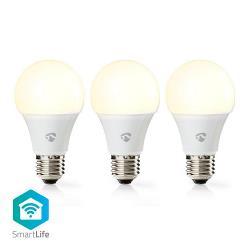 Nedis WIFILW31WTE27 Wi-Fi Smart LED-Lamp | Warm Wit | E27 | 3-Pack