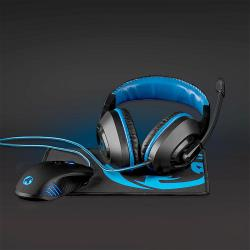 Nedis GCK31100BK Gaming Combo Kit | 3-in-1 | Headset, Mouse and Mouse Pad