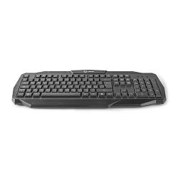 Nedis GKBD100BKND Wired Gaming Keyboard | USB 2.0 | Nordic Layout | Black