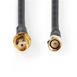 Nedis CSGP02400BK50 Antennekabel HSR-200   SMA Male - SMA Female   5.0 m   Zwart