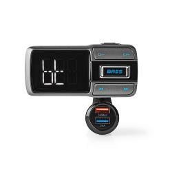 Nedis CATR101BK FM-Transmitter voor in de Auto | Bluetooth® | Bass Boost | MicroSD-Kaartsleuf | Handsfree Bellen | Sp...