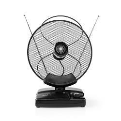 Nedis ANIR2503BK HDTV-Antenne voor Binnen | 0 - 25 km | Versterking 30 - 36 dB | FM / VHF / UHF | Zwart