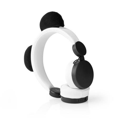 Nedis HPWD4000WT Bedrade hoofdtelefoon   1,2 m Ronde Kabel   On-Ear   Afneembare Magnetische Oren   Patty Panda   Wit