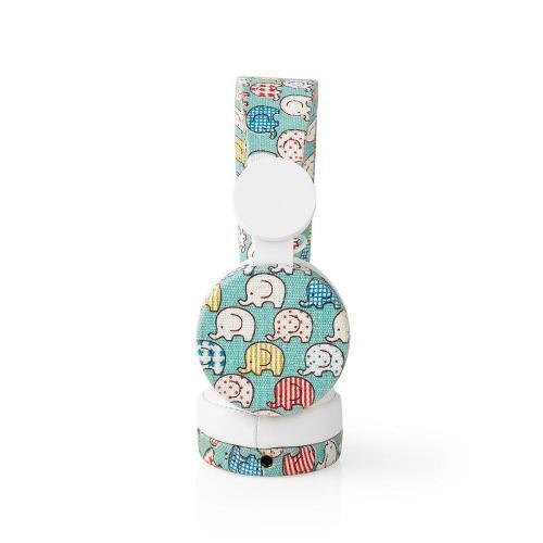 Nedis HPWD4100WT Bedrade Koptelefoon   1,2 m Ronde Kabel   On-Ear   Olifant   Wit