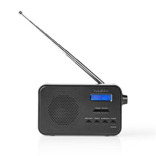 Nedis RDDB1000BK DAB+ Radio | 3.6 W | FM | Clock & Alarm Function | Black